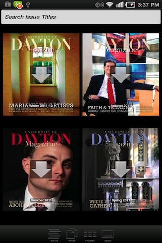 University of Dayton Magazine- screenshot