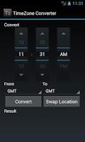 Screenshot of TimeZone Converter