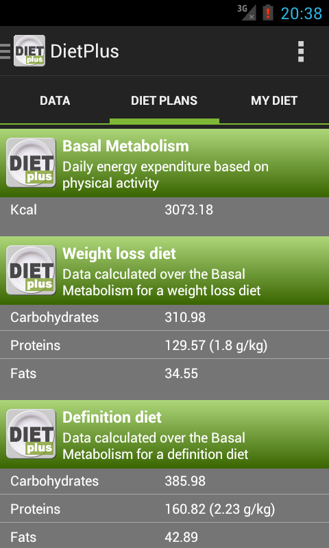 DietPlus - screenshot