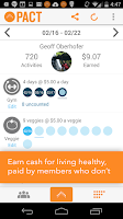 Screenshot of Pact: Earn Cash for Exercising