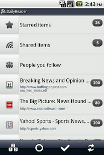 Daily Reader (Google Reader) - screenshot thumbnail