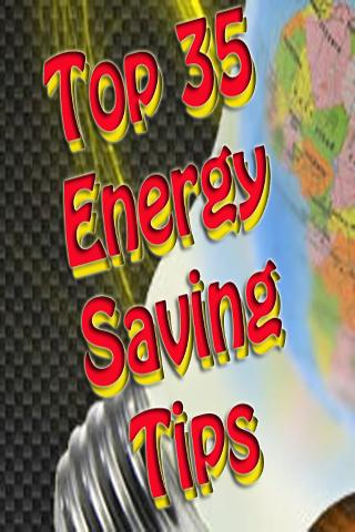Best 35 Energy Saving Tips