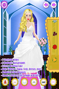 Wedding salon dress up girl fashion princess bride for Design your wedding dress app