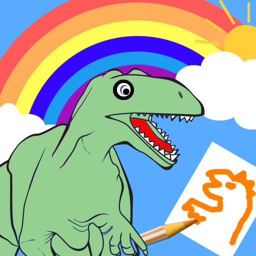恐竜のぬりえ 教育 LOGO-玩APPs