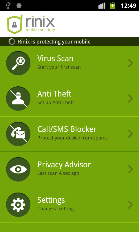 Antivirus Security GOLD 2014 - screenshot