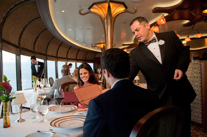 For upscale French cuisine accompanied by serene views and attentive service, head to the adults-only Remy during your sailing on Disney Dream.