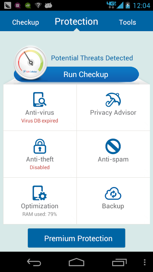 US Cellular MobileDataSecurity - screenshot