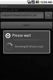 Unrar - screenshot thumbnail