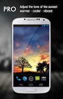 Screenshot of Sunset Hill Pro Live Wallpaper