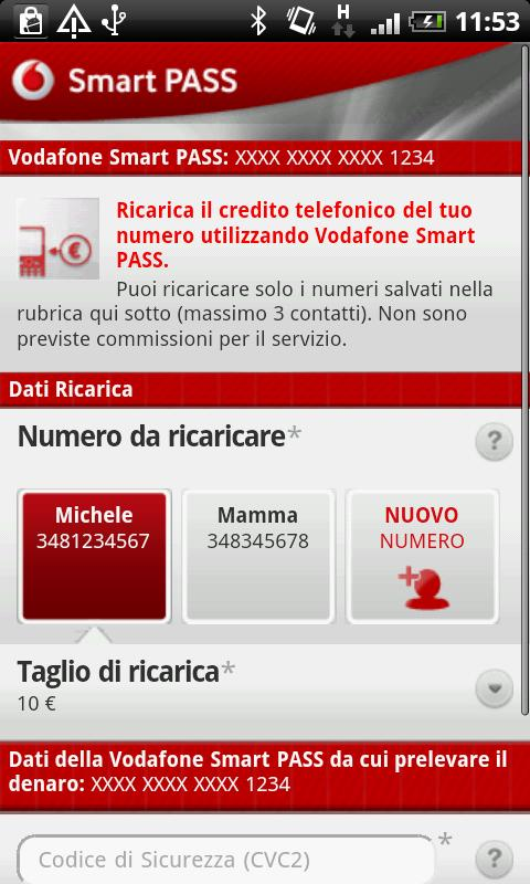 Vodafone Smart PASS - screenshot