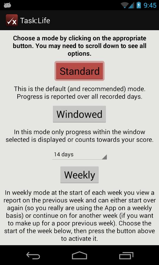Task:Life Performance Tracker - screenshot