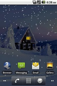 Snowfall Live Wallpaper screenshot 0