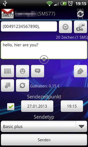 SMSoIP SMS77 Plugin