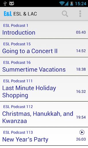 EL:ESL课程与内置词典结合的听力练习应用