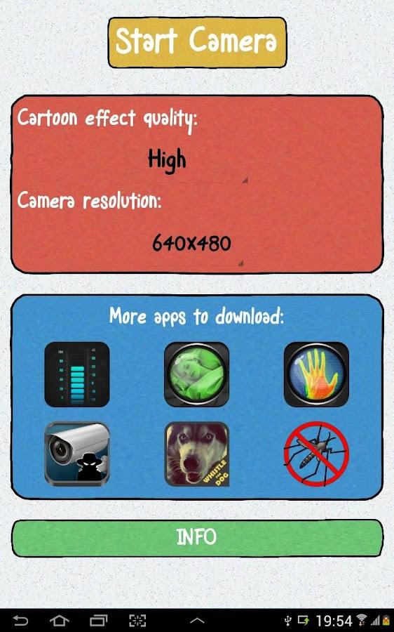 Cartoon camera pro android