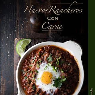 Huevos Rancheros Con Carne.