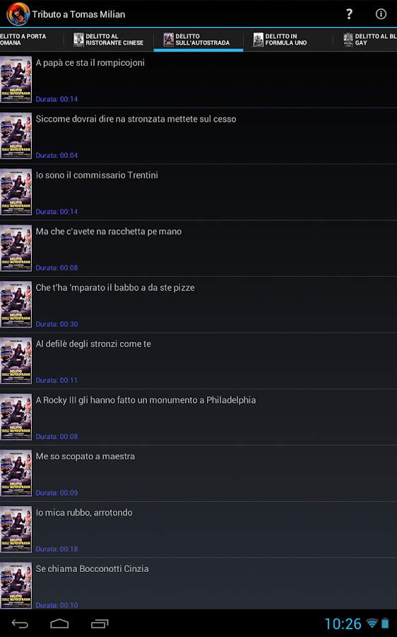Tributo a Tomas Milian- screenshot