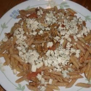 Pasta with Blue Cheese and Walnuts.