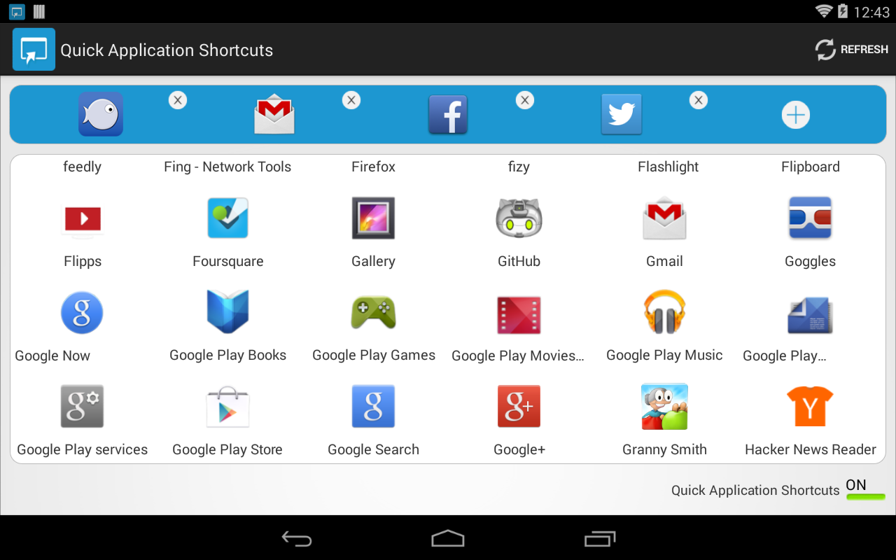 Quick Application Shortcuts- screenshot