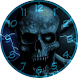Blue Eye Skull Analog Clocks