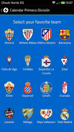 Calendar Primera División