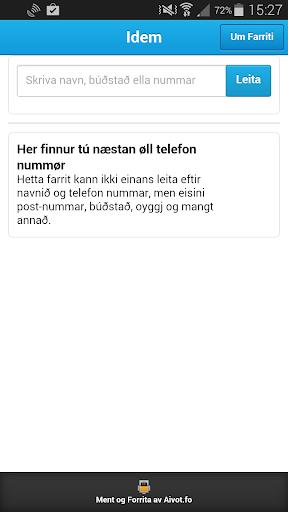 Idem - Finn Føroysk tlf nr.
