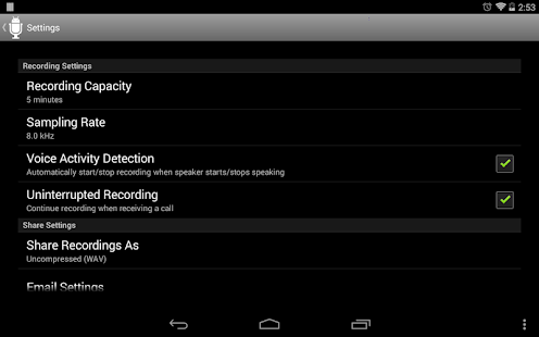 Dictadroid Lite Voice Recorder- screenshot thumbnail