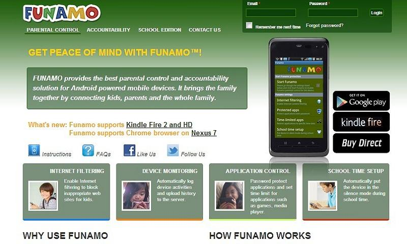 Funamo Parental Control - screenshot