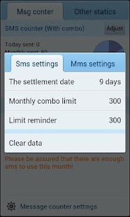 GO SMS Pro Message Counter - screenshot thumbnail
