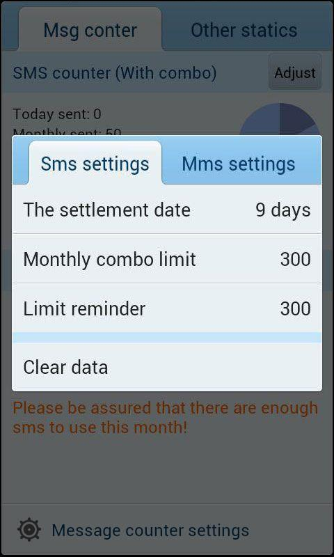 GO SMS Pro Message Counter screenshot #2