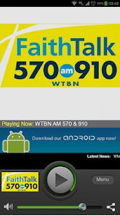 Faith Talk 570 and 910 WTBN - screenshot thumbnail