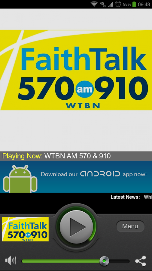 Faith Talk 570 and 910 WTBN - screenshot