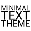 Minimal Black Text THEME FREE icon