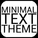 Minimal Black Text THEME FREE icon