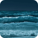 Raging sea waves LWP icon