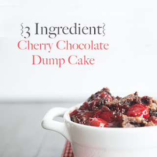 3 Ingredient Cherry Chocolate Dump Cake