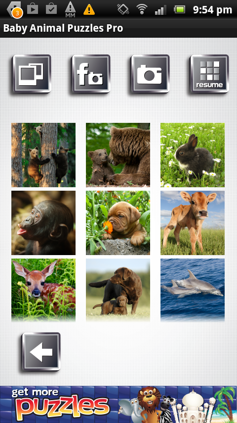 Baby Animal Puzzles Free Game - screenshot