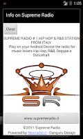Screenshot of Supreme Radio