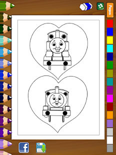 Coloring for Thomas Friends