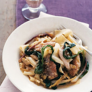 Pappardelle with Rabbit, Ramps, and Wild Garlic