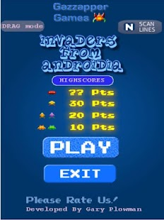 Invaders from Androidia- screenshot thumbnail