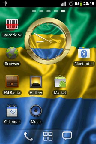 Gabon flag clocks - screenshot