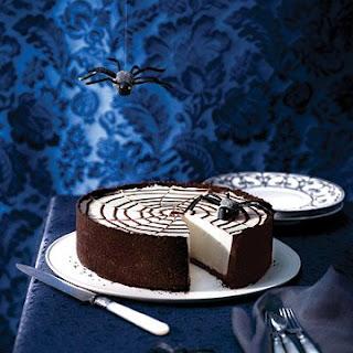 No-Bake Spiderweb Cheesecake.