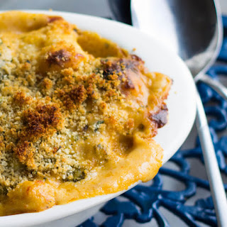 Cheesy Broccoli and Cauliflower Bake