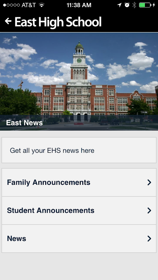 East High School- screenshot