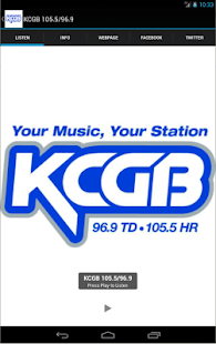 KCGB 105.5/96.9- screenshot thumbnail