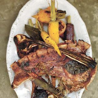 Roasted Carrots & Beets With The Juiciest Pork Chops.