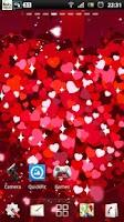 Screenshot of free heart live wallpaper