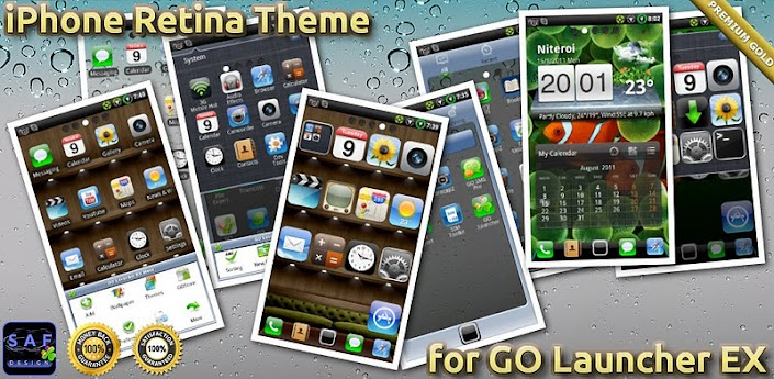 iPHONE RETINA GO Launcher EX v1.06