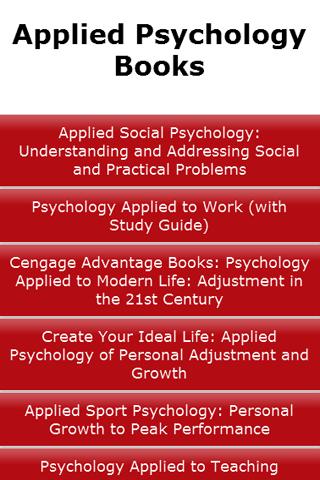 Applied Psychology Books